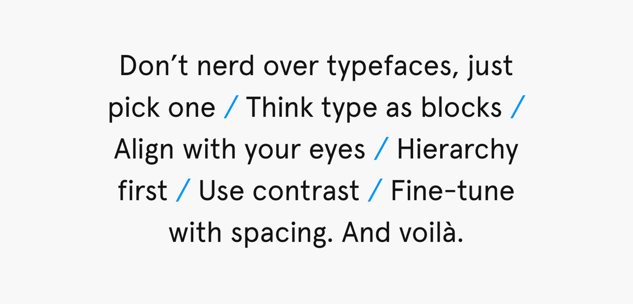 Screenshot der Website »A Five Minutes Guide To Better Typography«